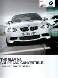 Official BMW M3 Coupe and Convertible Brochure For Sale