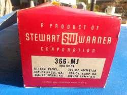 Stewart-Warner Green-Line Panel Gauges - Left Closeup