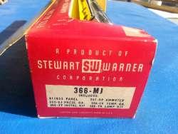 Vintage NOS Stewart-Warner Green-Line Panel Gauges - Left