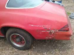 78 Camaro Parking Pole Badge Looks Worse in Photo than Real