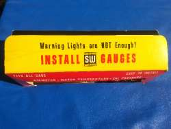 Original NOS Stewart-Warner Green-Line Panel Gauges - Top